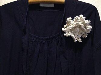きびそ 手編みモチーフブローチ 純国産の画像
