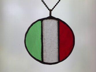国旗 ネックレス(イタリア)の画像