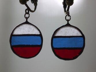 国旗 イヤリング(ロシア)の画像