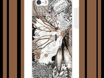 ◇iPhone 5/5s/SE 対応 Apple用ケース『標本箱でおやすみ』絡繰り妖精 【展示のみ】の画像