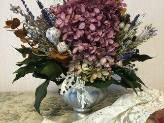 紫陽花のシャビースタイルアレンジメントの画像