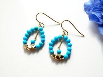 アーバン ターコイズ ピアス urban Turquoise earrings P0028の画像