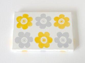 anemone ファブリックパネル (イエロー&グレイ)の画像