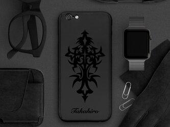 【360°全面保護強化ガラスフィルム付き】iPhone ケース iPhone全機種対応 スマホケース 黒056の画像