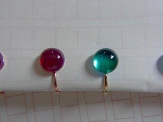 k様オーダー ヒュージンググラスのイヤリング2色セットの画像