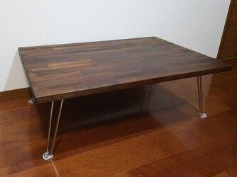 アンティーク調の折りたたみテーブル 900㎜×600㎜の画像