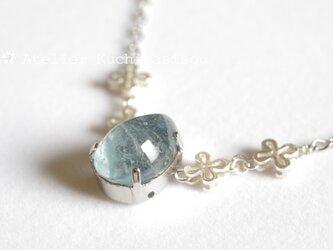【受注製作】鋳造ガラスの雫ネックレス〈たまゆら〉の画像