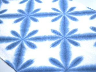 粋なブルー#3*雪花絞りの手ぬぐいの画像