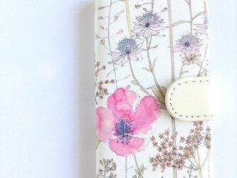 他機種製作可 リバティiphone7/8手帳型ケース イルマ ベビーピンクの画像