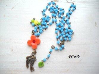 Flower child CAT walk necklaceの画像