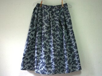 浴衣地 竹林 ギャザーゴムスカート MLサイズの画像
