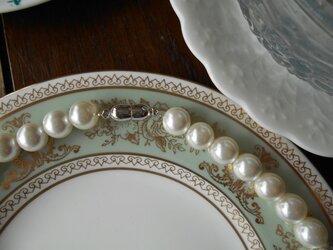 オーダー可能 オーガニックシェルパールネックレス10mm珠(ハンドメイド)の画像