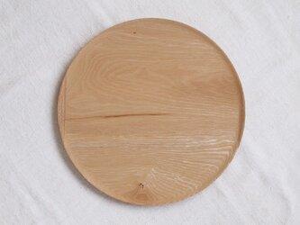 丸トレイ(お盆)タモ材1の画像