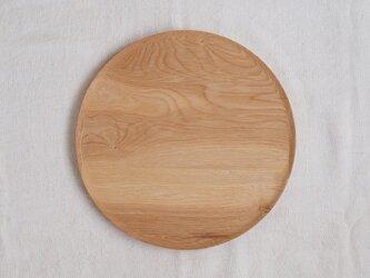 丸トレイ(お盆)タモ材2の画像