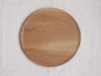 丸トレイ(お盆)タモ材3の画像