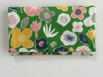 懐紙、通帳いれ flower2 greenの画像