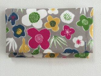 懐紙、通帳いれ flower2 grayの画像