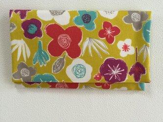 懐紙、通帳いれ flower2 yellowの画像