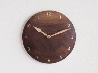 掛け時計 丸 ブラックウォールナット材⑥の画像