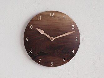 掛け時計 丸 ブラックウォールナット材⑦の画像