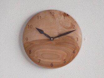 掛け時計 丸 カバ材3の画像