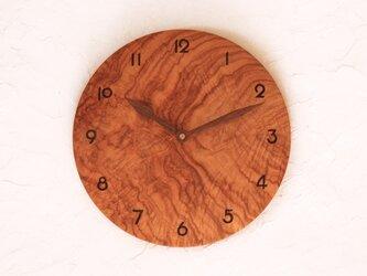 掛け時計 丸 ケンポナシ材2の画像