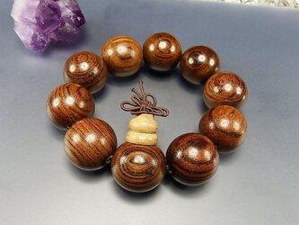 『癒しの香り』極大金檀木約24mm強10粒結び付数珠念珠の画像