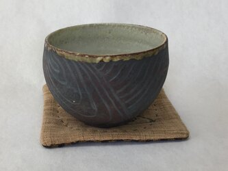 黒白湯碗の画像