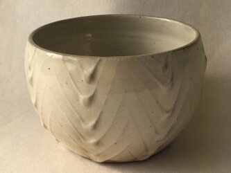 粉引陽刻小鉢の画像
