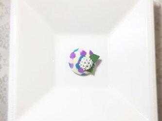 紫陽花ブローチ(帯留めとしても使えます)の画像