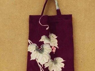 絹着物地の手提げ袋 の画像