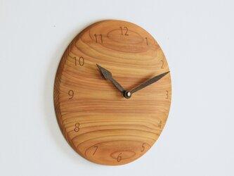 木製 掛け時計 丸 杉材8の画像