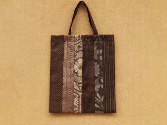 絹着物リメイク:パッチワーク手提げ袋 の画像