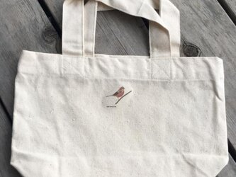 トートバッグ小 野鳥シリーズ ベニマシコの画像