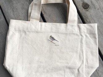 トートバッグ小 野鳥シリーズ ミヤマホオジロの画像