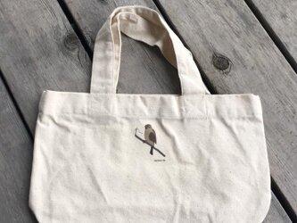 トートバッグ小 野鳥シリーズ モズの画像