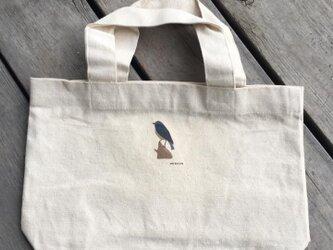 トートバッグ小 野鳥シリーズ ルリビタキの画像