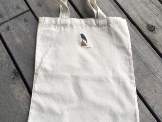 トートバッグ大 野鳥シリーズ ルリビタキの画像