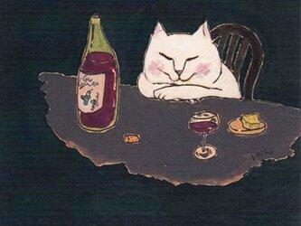 カマノレイコ オリジナル猫ポストカード「至福」2枚セットの画像
