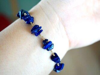 ブルースペースラピスラズリブレスレット Blue space Lapis lazuli brecelet B0017の画像