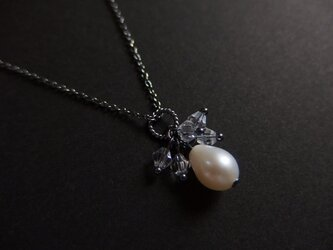 【silver925】アンティーク風パールペンダントの画像