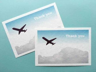 雲と飛行機の39cardの画像