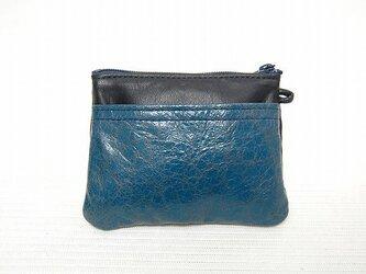 角型財布(クラック紺)の画像