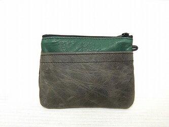 角型財布(ムラ染グレー)の画像