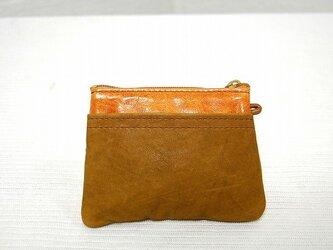 角型財布(ムラ染オレンジ)の画像