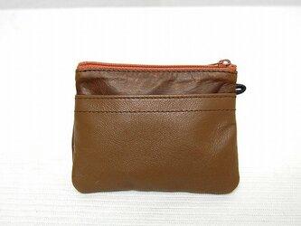 角型財布(ムラ染ブラウン)の画像