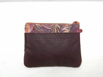 角型財布(柄物豚革×ワイン牛革)の画像