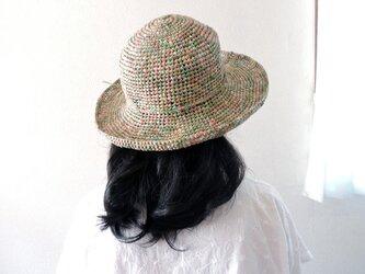 夏のお帽子 森のこもれ日の画像