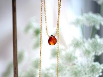 スペサルタイトガーネットのネックレス ~Annunziataの画像