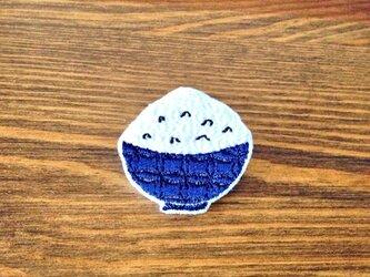 刺繍ブローチ 「ごはん」の画像